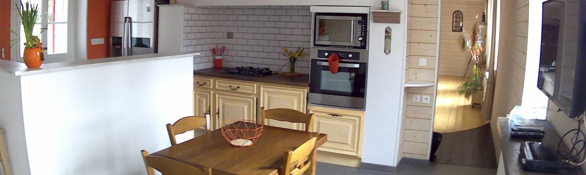 La cuisine du Gîte du Marronnier de Meneslies